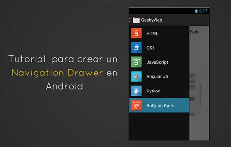android studio tutorial navigation drawer tutorial para crear un navigation drawer en android
