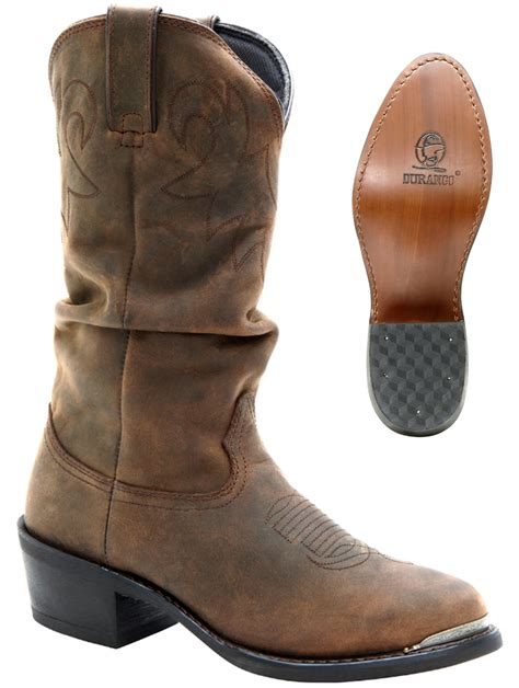 durango boots s 12 quot crumpled leather slouch western