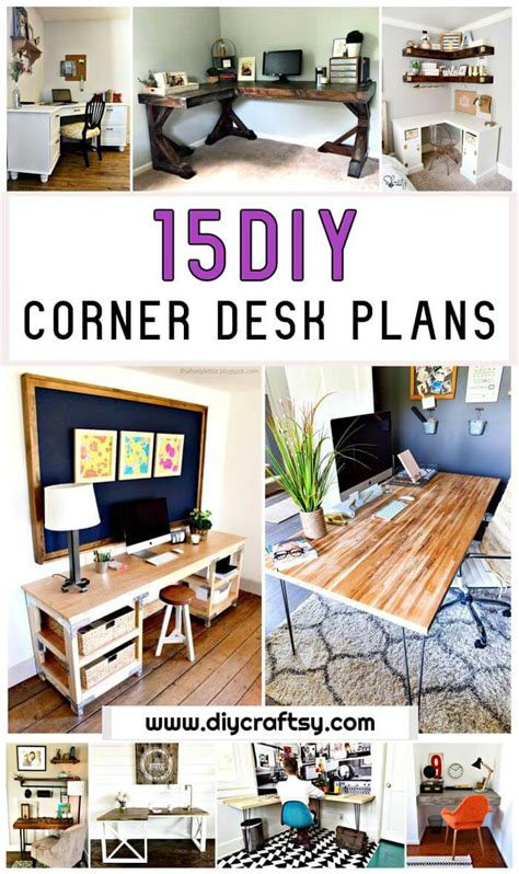 diy corner desk ideas 15 diy corner desk ideas with step by step plans diy crafts