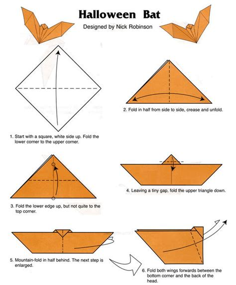 How To Make A Origami Bat - bat origami food and