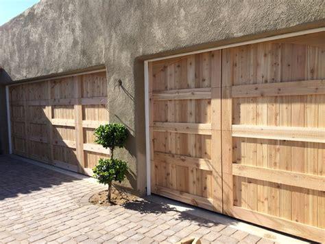 Desert Garage Door by Wood Garage Doors Desert Highlands Scottsdale Az