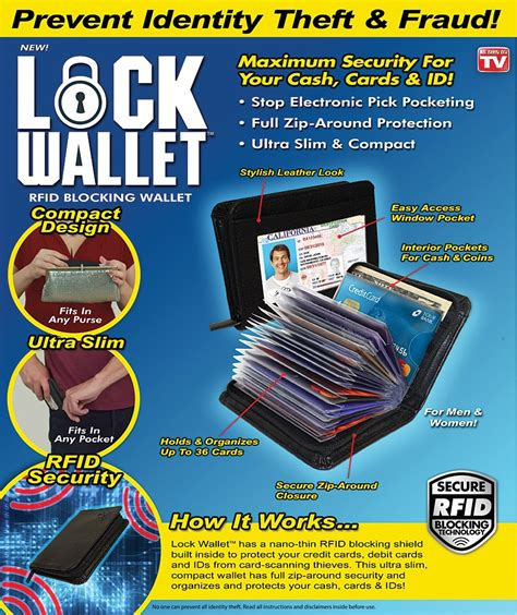 Wallet Dompet Kartu Atm Dan Kartu Nama Isi 24 Termurah lock wallet dompet kartu kredit secure rfid blocking black jakartanotebook