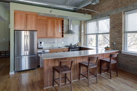 loft kitchen design loft style kitchen contemporary kitchen chicago by lugbill designs
