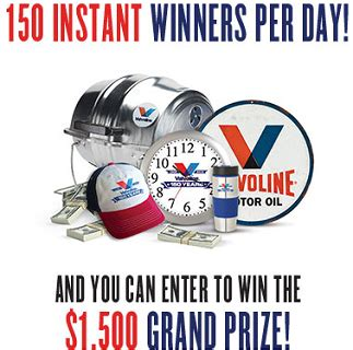 Valvoline Giveaway - valvoline 150 giveaway instant win game over 8 000 prizes
