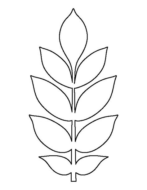 printable small leaves ash leaf pattern use the printable outline for crafts