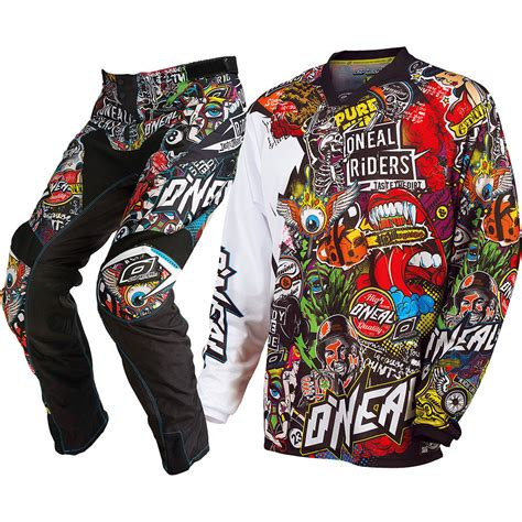 motocross gear sets oneal mx 2017 crank dirt bike black multi