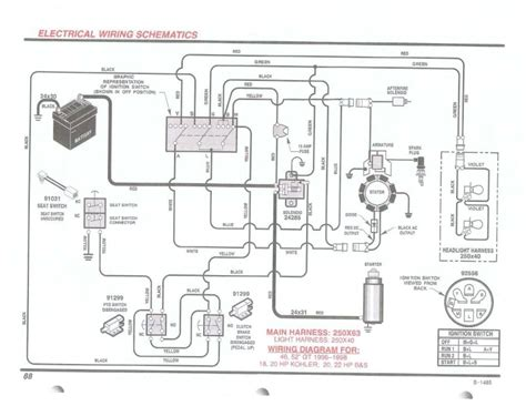 murray lawn mower wiring diagram fuse box and
