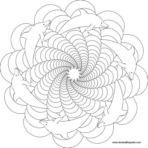 coloring pages for adults dolphins trippy dolphin mandala coloring page for grown ups