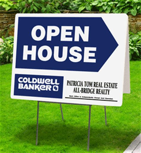 real estate open house signs coldwell banker real estate open house signs tent open house