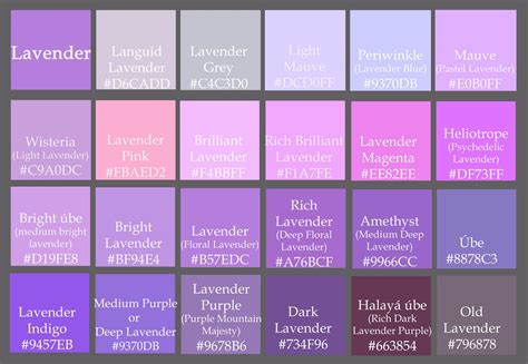 different shades of purple names 28 names of different shades of purple shades of