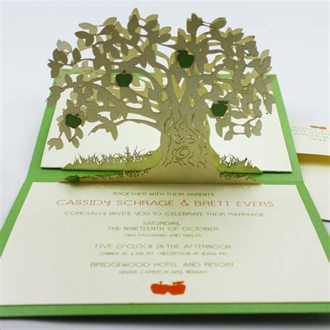 pop up tree card template biglietti pop up albero di mele