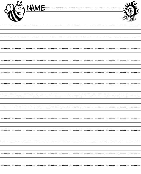 second grade writing paper template writing paper printable for children activity shelter