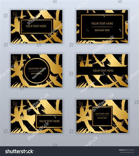 gold pattern card stock set white black gold business cards stock vector 683141854