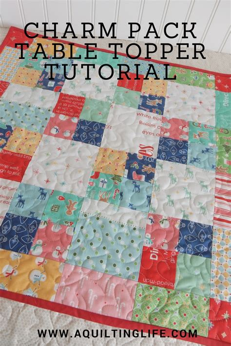 Charm Pack Quilt Tutorials by Charm Pack Table Topper Tutorial A Quilting