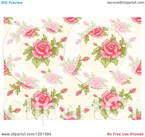 pink rose pattern clipart clipart of a vintage seamless pink rose background pattern