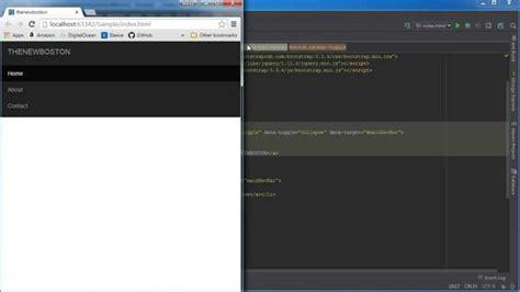bootstrap navbar tutorial youtube bootstrap tutorial for beginners 8 navbar toggle