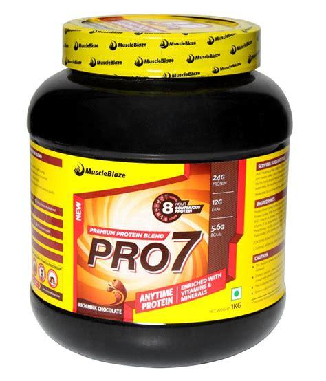b j protein muscleblaze pro7 protein blend 2 kg 4 4 rich milk