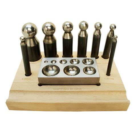metal jewelry tools 10 pc dapping block punch puncher circle metal