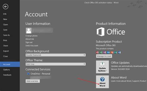 Office 365 Status by How To Check Office 2016 Or Office 365 Activation Status