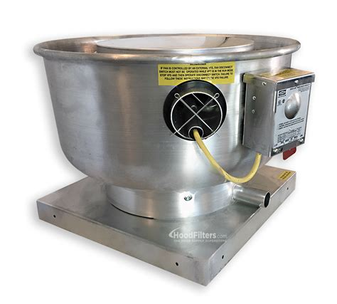 1500 Cfm Direct Drive Upblast Food Truck Exhaust Fan With