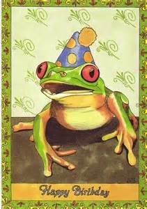frog happy birthday card by katzart on etsy 5 00 frogs happy birthday cards