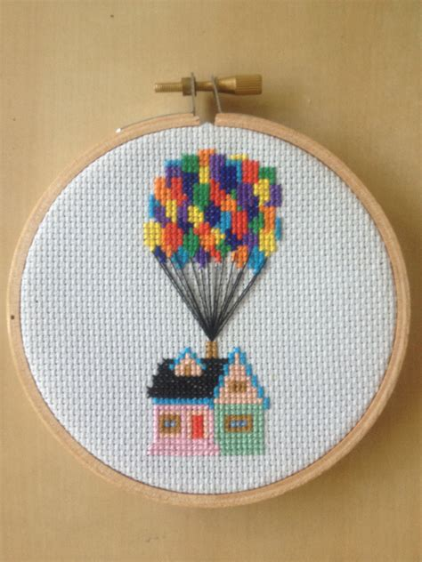 house pattern cross stitch up house with balloons cross stitch pattern disney pixar