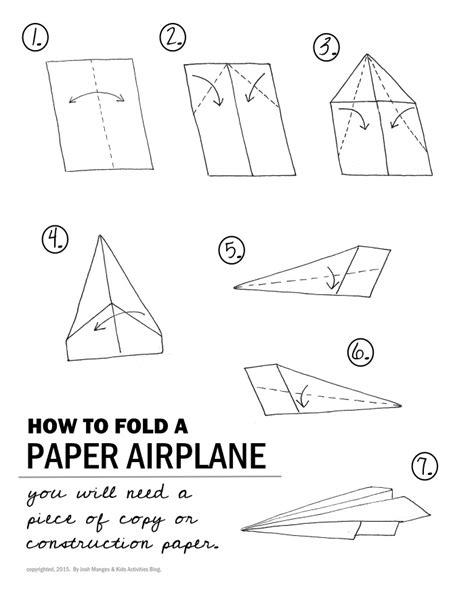 printable paper airplane folding directions stem paper airplane challenge