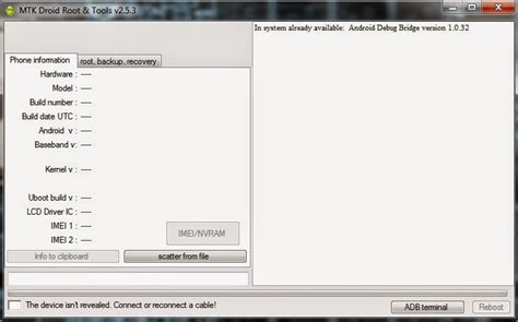 reset android mtk android hack and secrets mtk droid tools v2 5 3