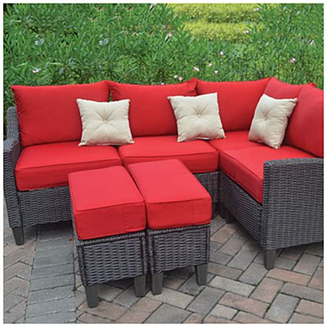 wilson and fisher wicker patio furniture resin wicker 6 seating set