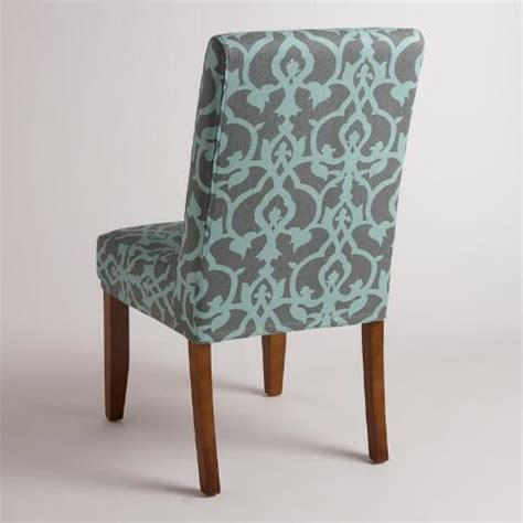 anna chair slipcover timbercove blue anna chair slipcover world market
