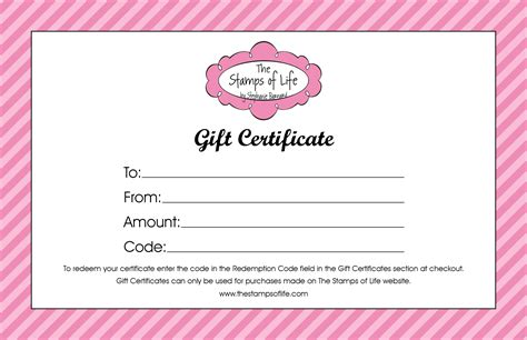 printable gift certificates for stores the sts of life sts and dies sting supplies