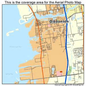 aerial photography map of gibsonton fl florida