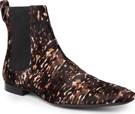 burberry prorsum animal print calf skin chelsea boots in