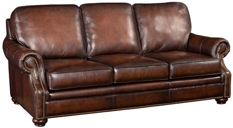 leather chair and ottoman clearance hooker furniture ss185 brown leather sofa with wood
