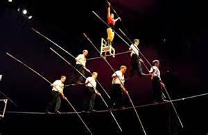 Wired the flying wallendas stage a seven person high wire pyramid as