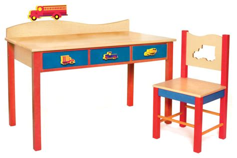 boys like trucks desk chair set modern
