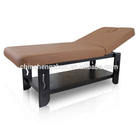 bed treatment heavy solid wooden beauty treatment bed medical treatment