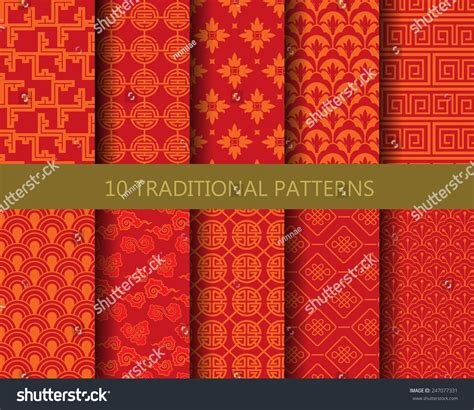 pattern and texture difference 10 different traditional chinese patterns endless stock