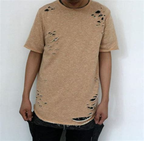 Longline Swag T Shirt Swag T Shirt Younglex 1 ripped tees swag summer cool longline kanye west ripped