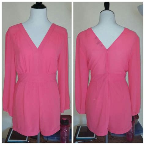 Nexx 38 D Romper Pink 38 foreign exchange other nwot pink sleeve romper from sari s closet on poshmark