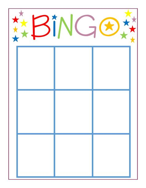 free blank bingo card template for teachers family bingo dolen diaries