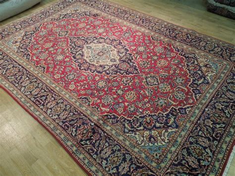 8x12 Area Rugs Handmade Rug 8x12 Kashan Rug Spun Wool Fancy Carpet Ebay