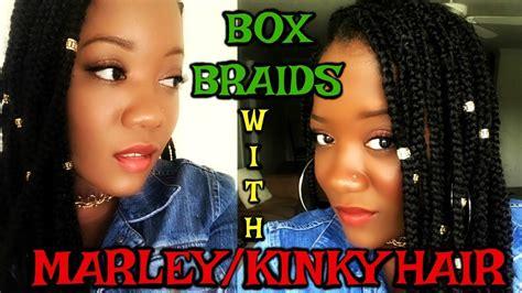 marley braids vs ya man braids box braids using marley hair youtube