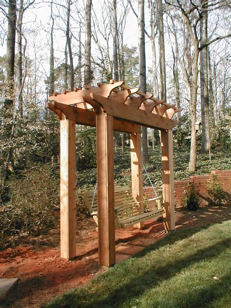 pergola swing photo page hgtv