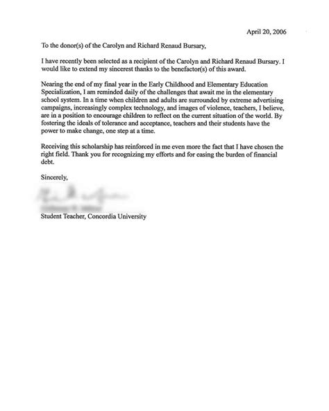 Scholarship Recommendation Letter Sle Free letter for scholarship in nursing 28 images 37 thank