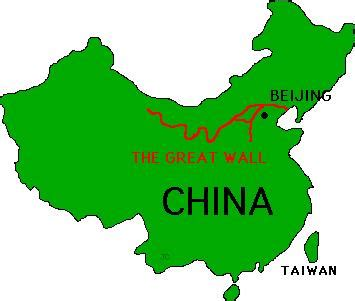 Great Wall Of China Map Outline outline map of china with great wall cliparts co
