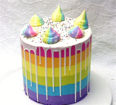 Cake Decorating Ideas At Home by Cakes To Go Ctg 32 Rainbow Drip Cake