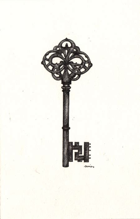 small skeleton key tattoo the gallery for gt antique skeleton key sketch