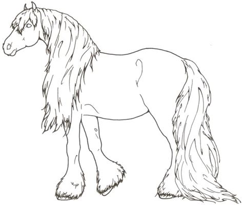 coloring pages of clydesdale horses gentle by requay on deviantart