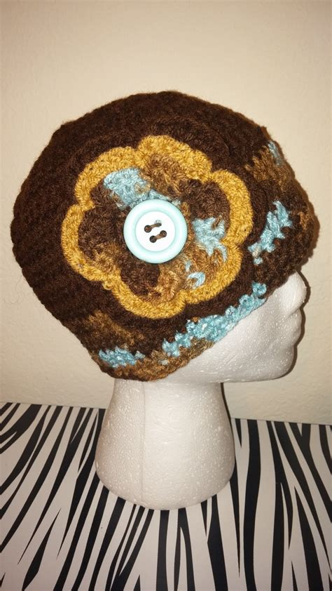 Handmade Crochet Hats - handmade crochet brown mix hat fingerless gloves set hats